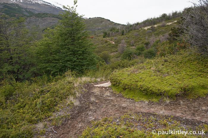 ground erosion at Perito Moreno viewing area
