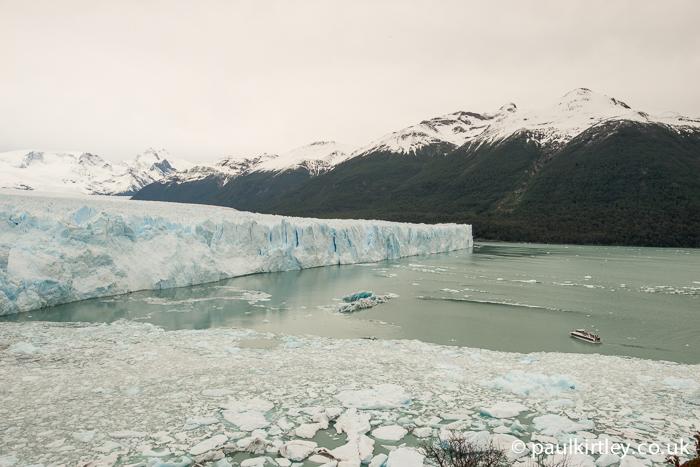 Perito Moreno glacier and boat