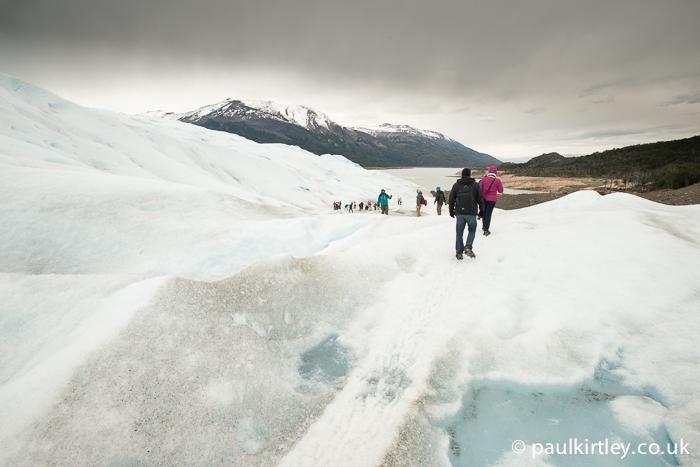 Trekking on glacier