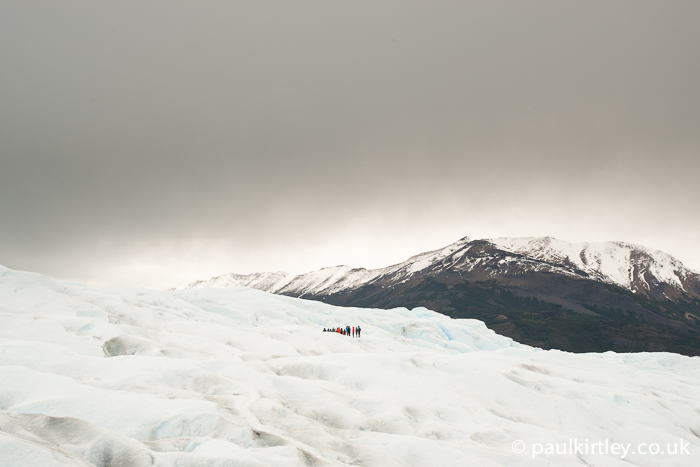 A group out on the ice of Perito Moreno