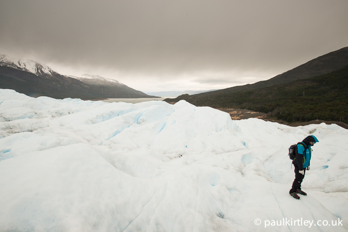 Glaciar Perito Moreno cloudy day for ice trekking