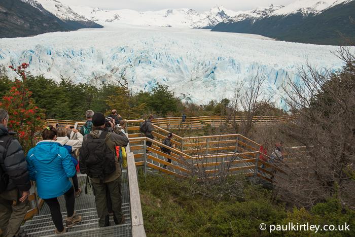Perito Moreno glacier stairs