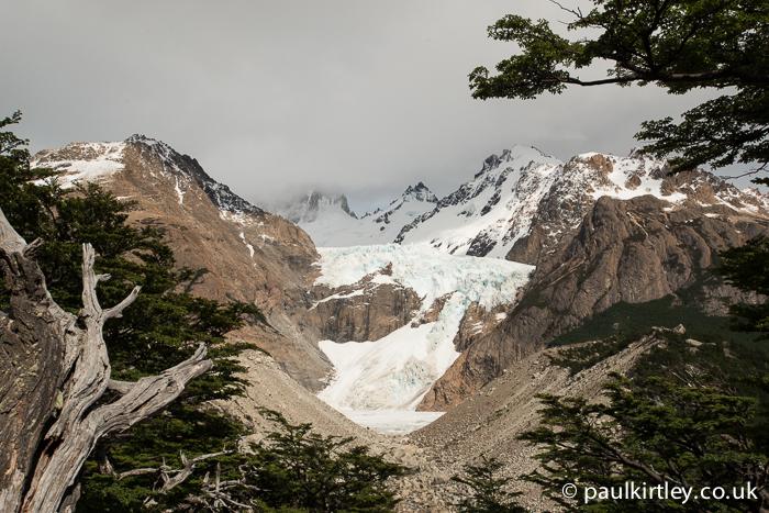 Glaciar Piedras Blancas, Santa Cruz, Argentina. View from the Mirador Piedras Blancas