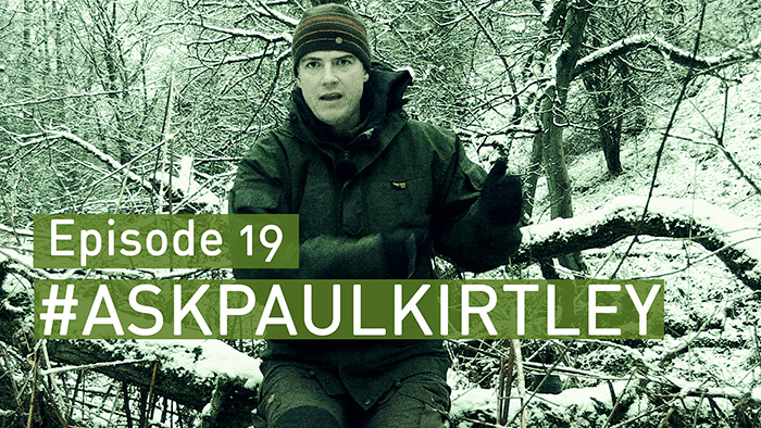 Paul Kirtley in snowy woods for Ask Paul Kirtley episode 19