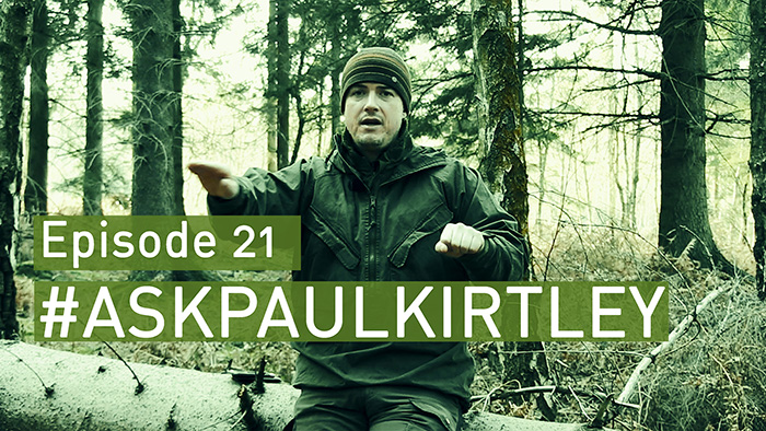 Post image for #AskPaulKirtley Episode 21: Ventile Smocks (again), Knife Skills For Bushcraft, Canoe Camping, Stoves, Bow Drill Success & Drinking Urine