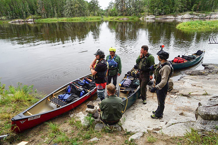 Group on Bloodvein River