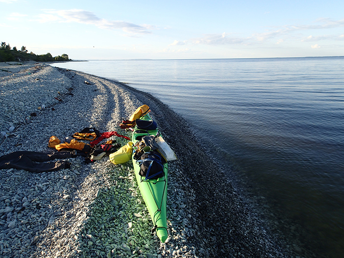 Kayak and contents.