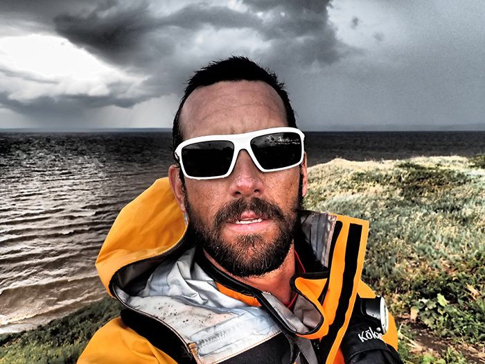 Mark Kalch expedition paddler in the middle of nowhere.