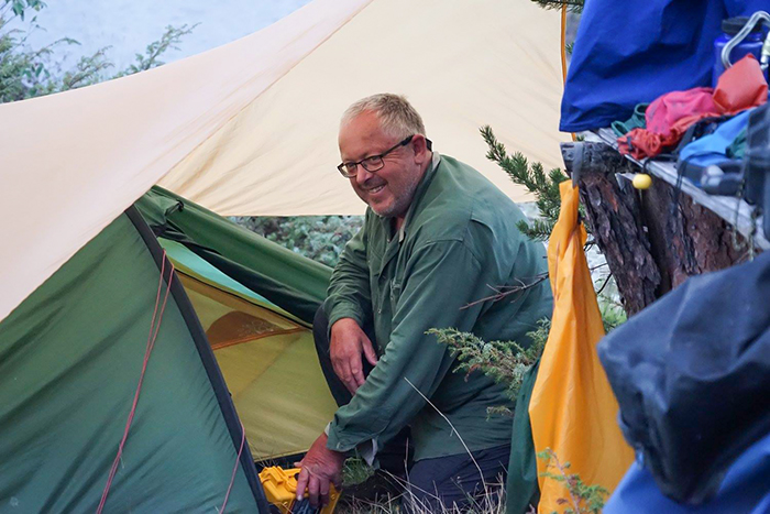 Ray Goodwin camping