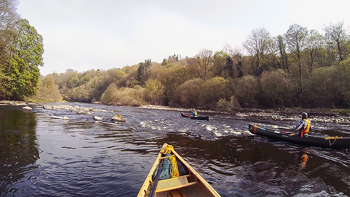Canoes on the River Tees