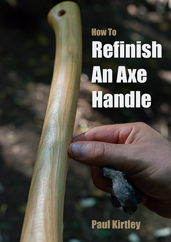 Front cover of a PDF guide on how to refinish wooden axe handles