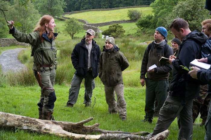 Lisa Fenton instructing wild plants in Cumbria