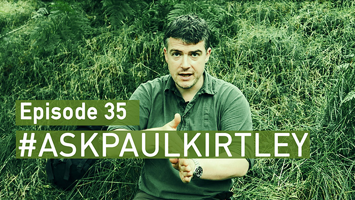 Paul Kirtley answering bushcraft questions in episode 35 of #AskPaulKirtley