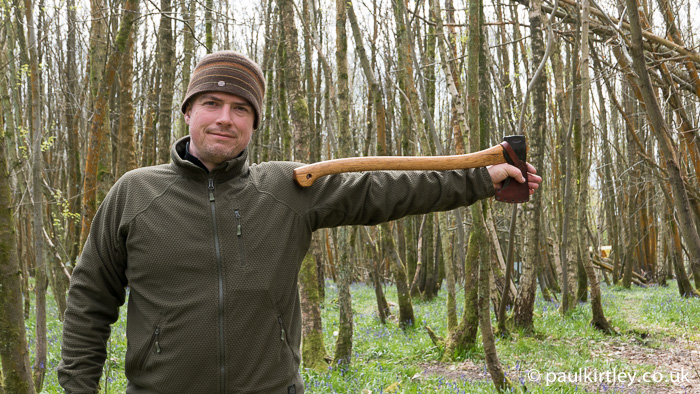 Paul Kirtley with Scandinavian Forest Axe