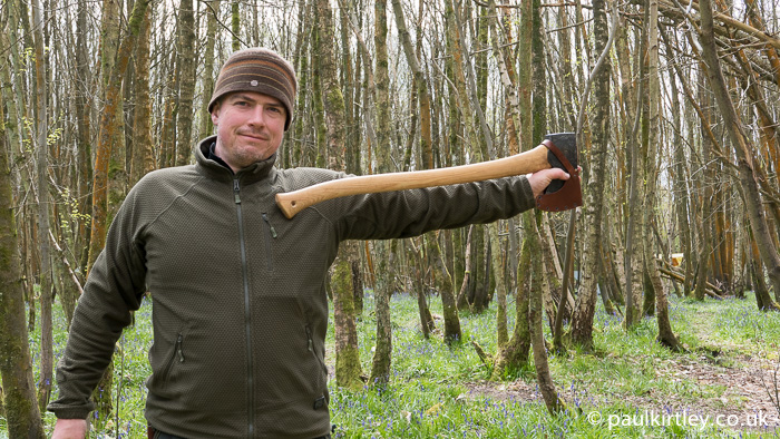 Paul Kirtley with American Felling Axe