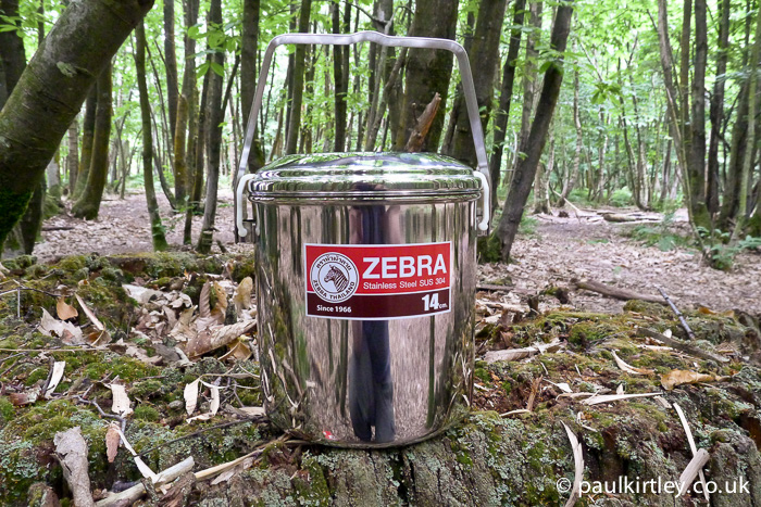 Zebra billy can for bushcraft
