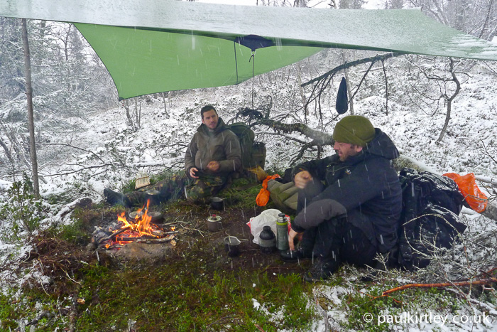 Hillberg XP10 tarp in the snow