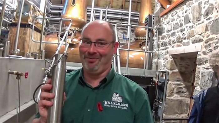 Ballindalloch distillery tour guide with plumper