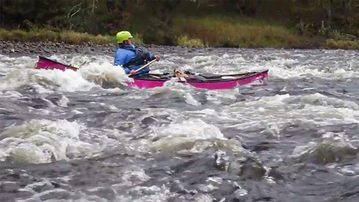 Post image for Canoeing The Spey With Kevin, Ray & Justine part 8 – The Washing Machine