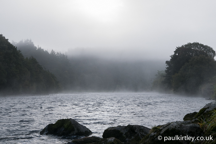 Mist over a river.
