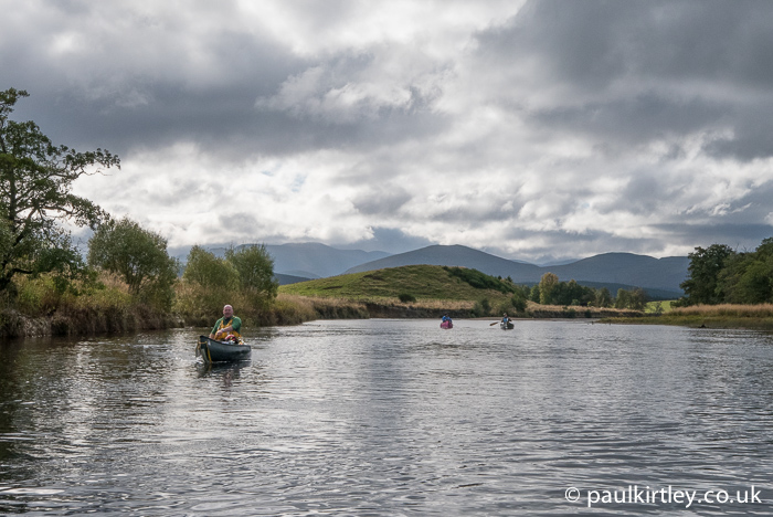 Canoeists on the River Spey