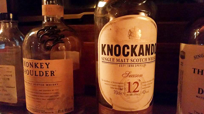 Knockando and Monkey Shoulder whisky