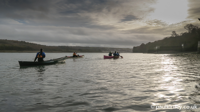 Canoes on the Menai Strait