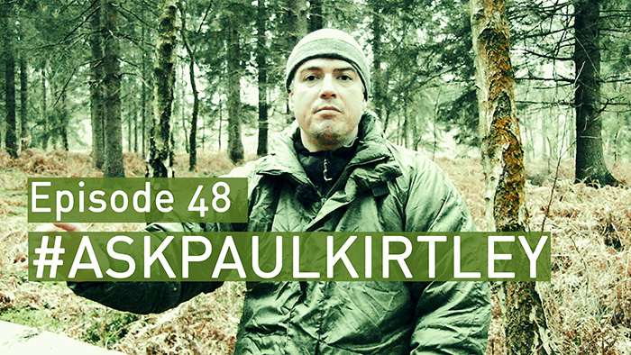 Post image for #AskPaulKirtley Episode 48 – Bushcraft Instructing, Winter Wild Edibles, Uses Of Willow, Tool Sharpening and Bivvy Bag Use In The Open