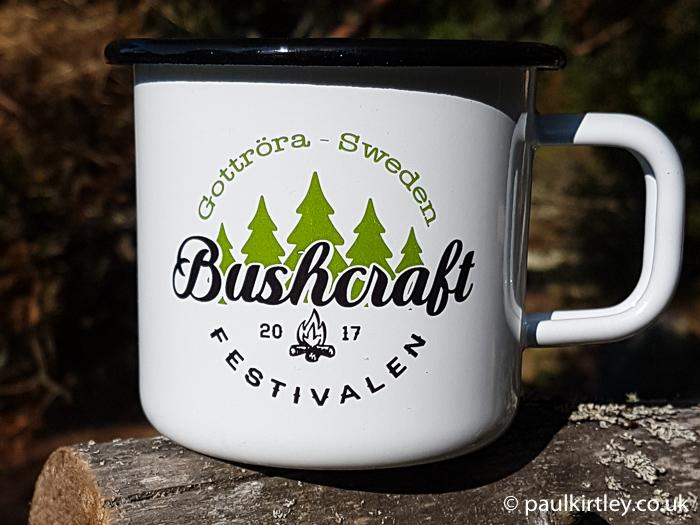 Enamel mug with Bushcraftfestivalen logo
