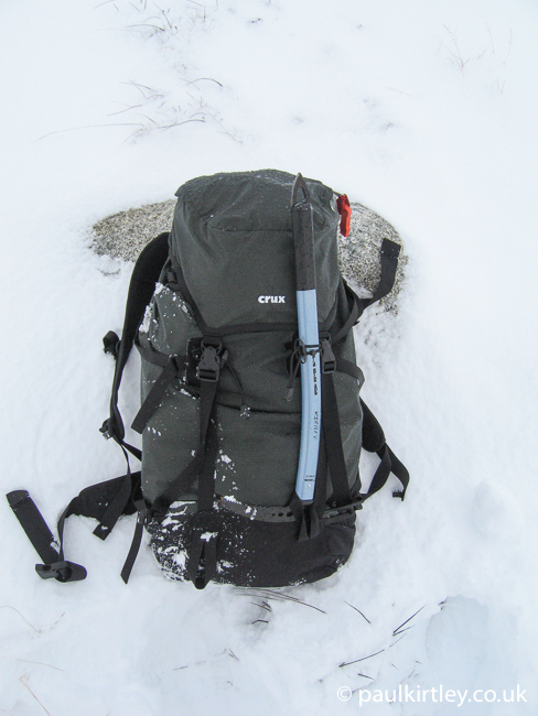 Crux AK47 rucksack as winter daypack