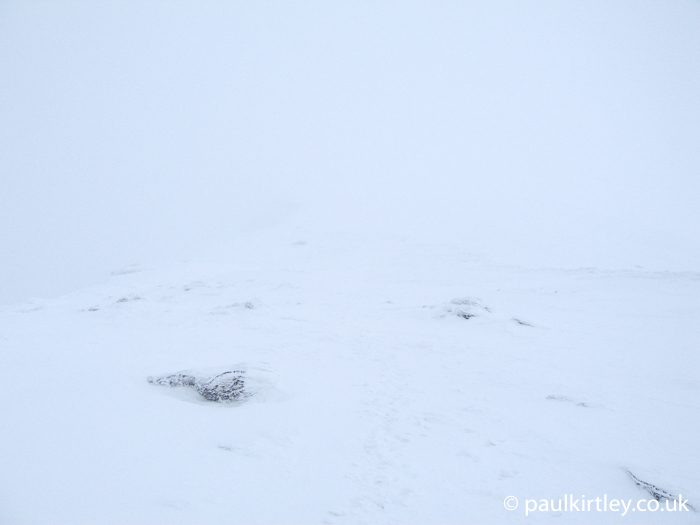 Low visibility in winter hills