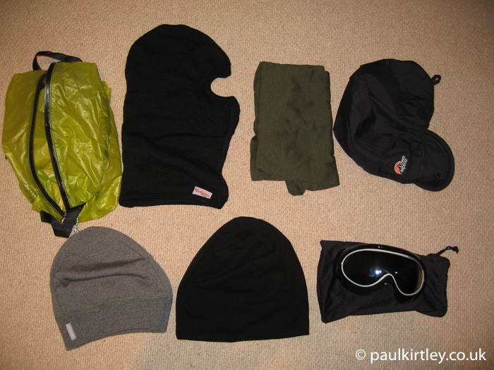 a range of winter head gear