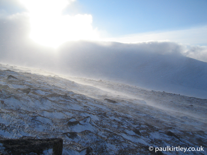 Winter conditions in the Cairngorms