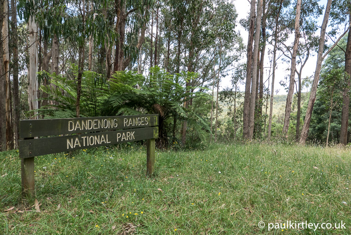 Dandenong Ranges National Park sign