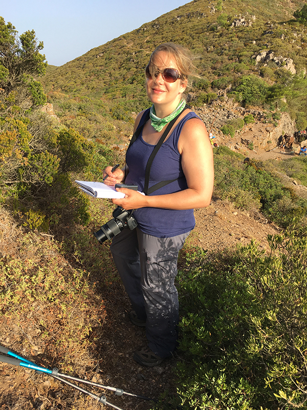 Dr Cassandra Quave in the field