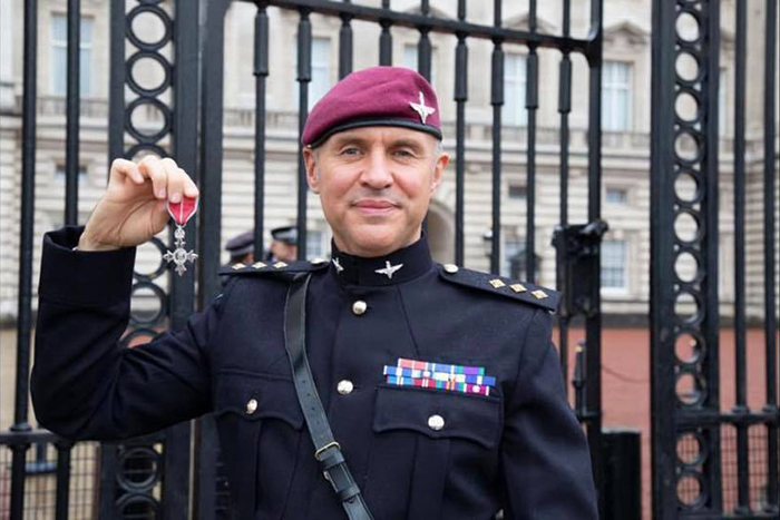 Paratrooper with MBE
