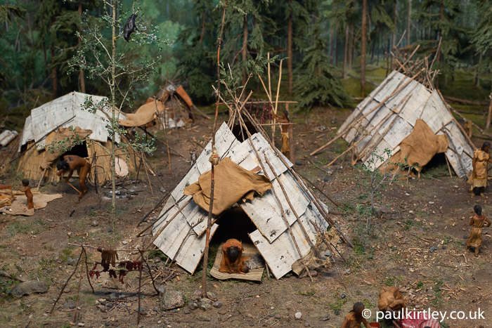 birch bark covered shelters