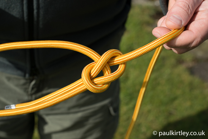 Bowline knot tying