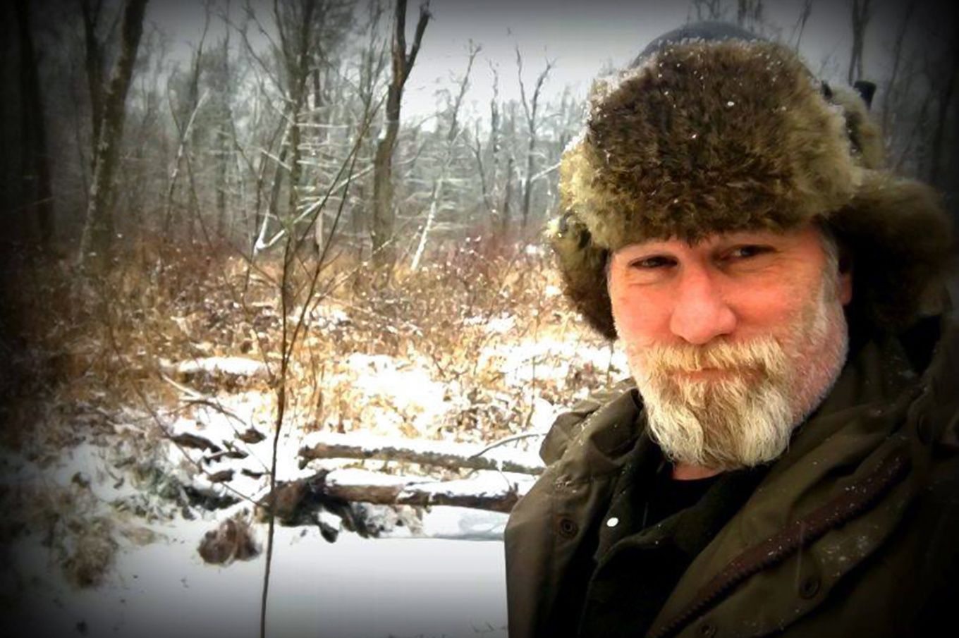 Dave Canterbury in a hat in cold conditions