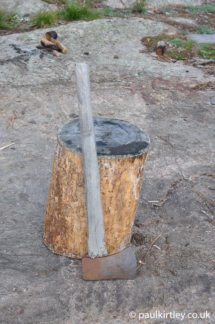 neglectged axe