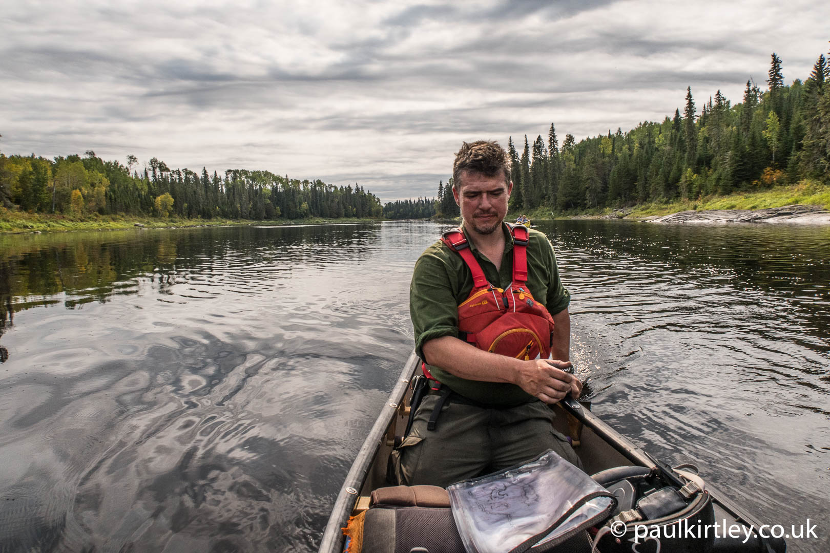Paul Kirtley canoeing on Missinaibi in Canada