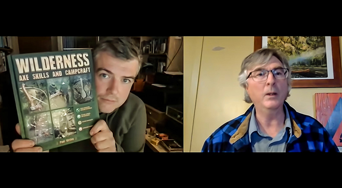 Paul Kirtley talks about his book Wilderness Axe Skills and Campcraft with Kevin Callan The Happy Camper